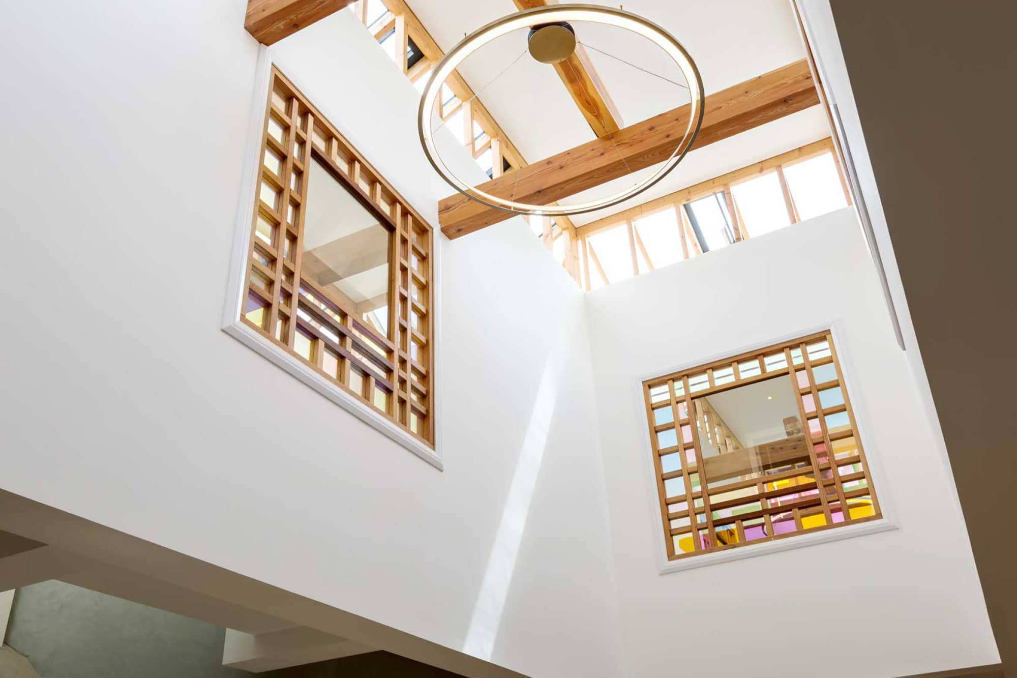 The modern atrium designed by Studio Henley at Harford Manor