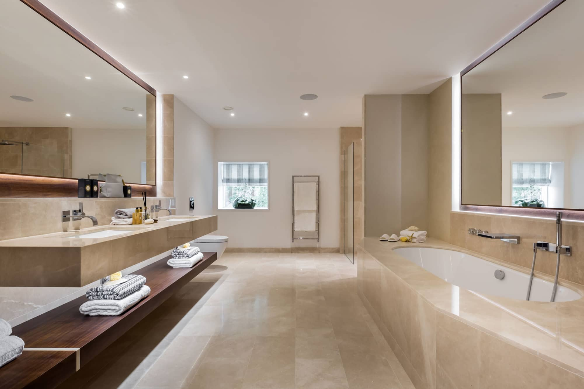 A contemporary bathroom at Harford Manor