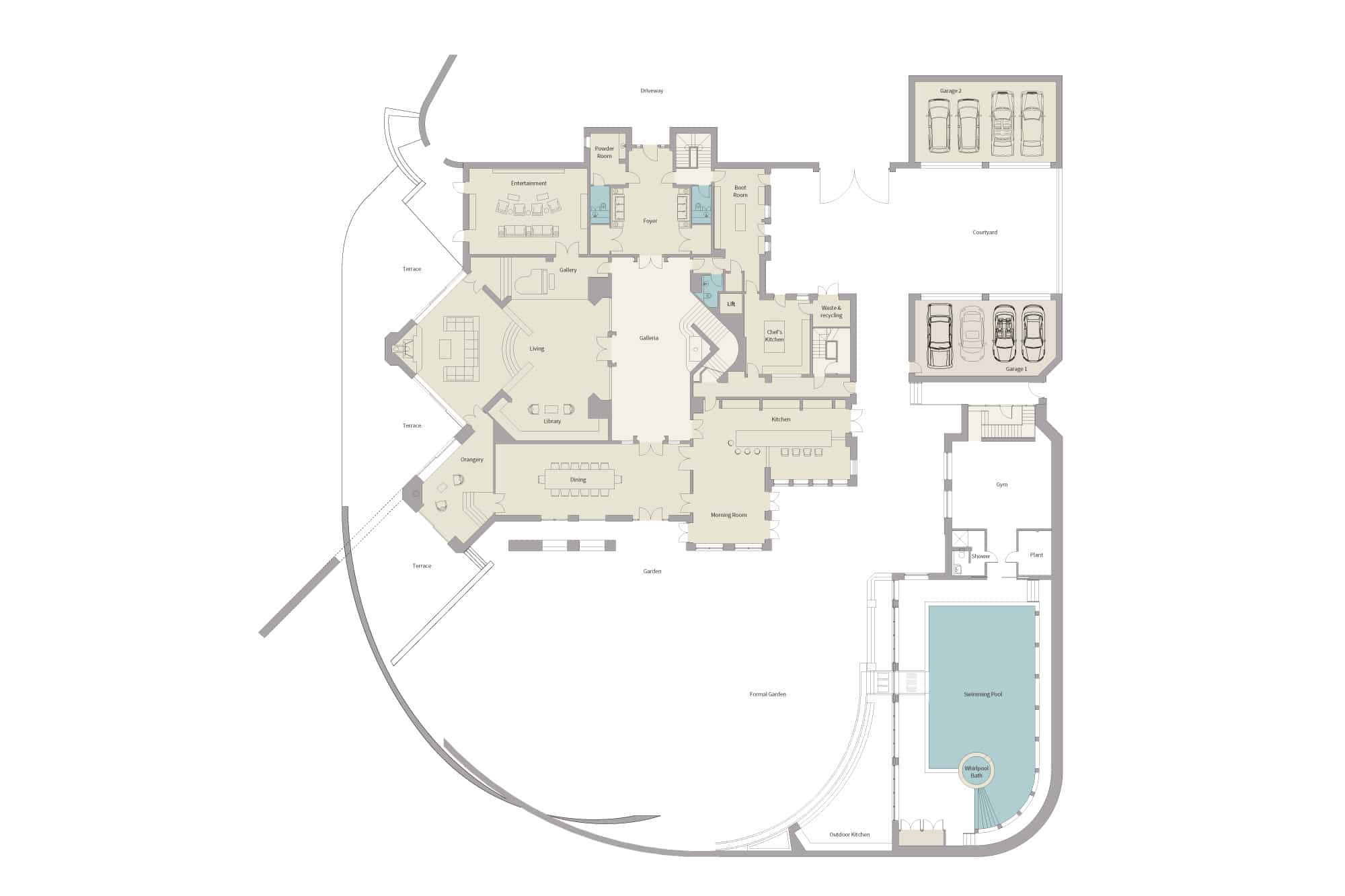 Harford Manor Ground Floor Floorplan